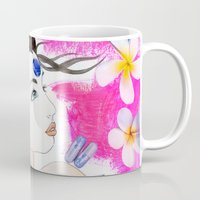 third eye Mugs featuring Third Eye by Fabsdolls