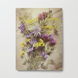 Flowers from the meadow Metal Print