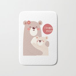 Mutual snatched bear mother and child Bath Mat
