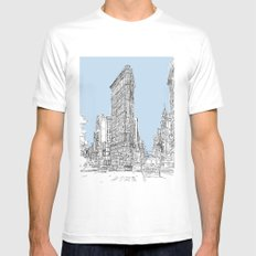 The Flat Iron Mens Fitted Tee White MEDIUM