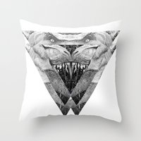 trex Throw Pillows featuring TREX by moln4rt