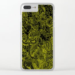 Black and Yellow Underbrush Clear iPhone Case