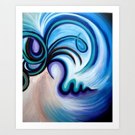 Lady Flow Abstract Art Print