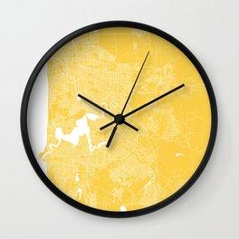 Perth map yellow Wall Clock