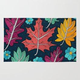 Last leaves of autumn Rug
