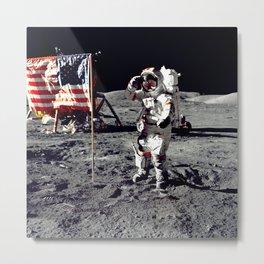 Salute on the Moon Metal Print