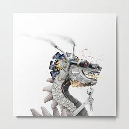 Chinese steam punk dragon Metal Print