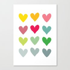 Heart pattern art  Canvas Print