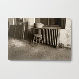 Broken stool on Ellis Island Metal Print