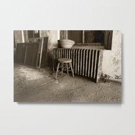 Broken stool on Ellis Island Metal Print