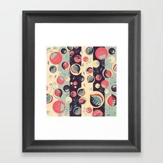 50's floral pattern II Framed Art Print