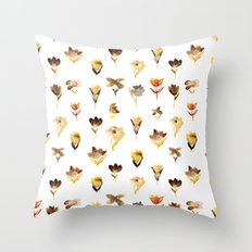 The beauty of dry flowers Throw Pillow