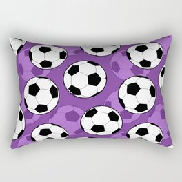 Football Pattern on Purple Background Rectangular Pillow