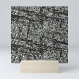 Gouged Stainless Texture Mini Art Print