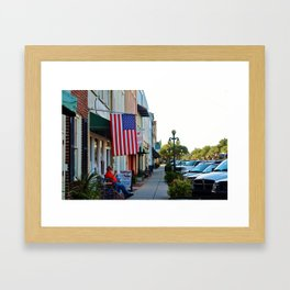 Historic Front Street Framed Art Print