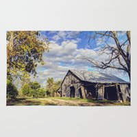 kentucky Area & Throw Rugs featuring Kentucky Barn by JMcCool