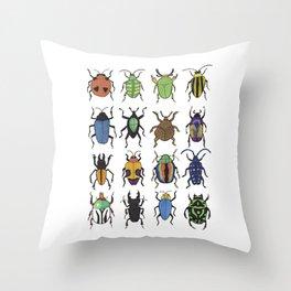 Beetle Species Throw Pillow