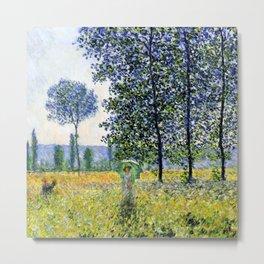 "Claude Monet ""Sunlight Effect under the Poplars"", 1887 Metal Print"