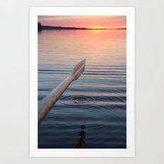 Sunset in Scandinavia Art Print