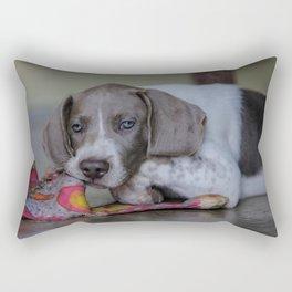 Ayra and Mr. Bunny Rectangular Pillow