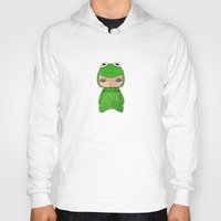 kermit Hoodies featuring A Boy - Kermit the frog by Christophe Chiozzi
