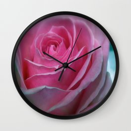 JANUARY ROSE (SOFT PINK GREEN ROSE) Wall Clock