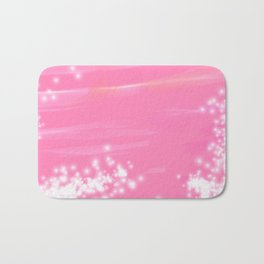 Pink Sparkles Bath Mat