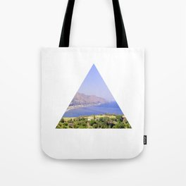 The beach around the corner Tote Bag