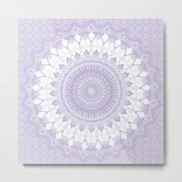 Boho Pastel Purple Mandala Metal Print