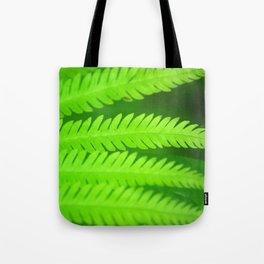 a green Fern Tote Bag