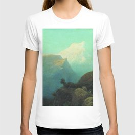 Mist In The Mountains Caucasus 1878 By Lev Lagorio | Reproduction | Russian Romanticism Painter T-shirt