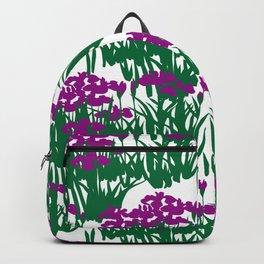 Japanese kakitsubata Iris Flower Seamless Patterns Symbols Backpack