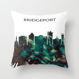 Bridgeport Skyline Throw Pillow