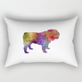 English Bulldog in watercolor Rectangular Pillow