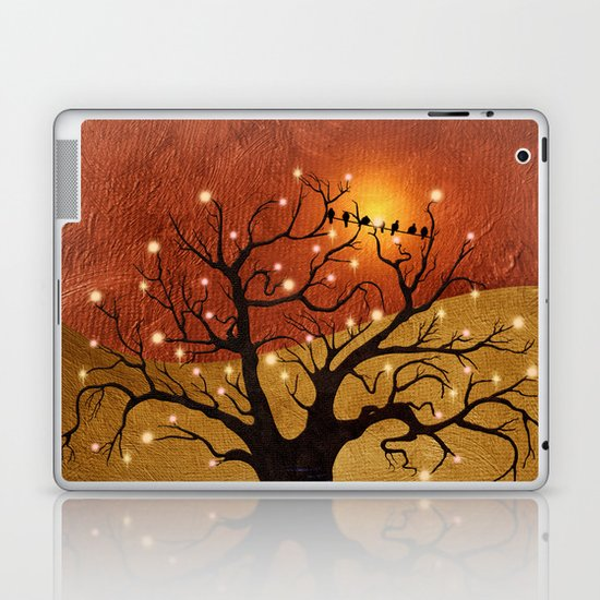 sunset and lights Laptop & iPad Skin