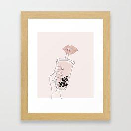 Boba is Life Framed Art Print
