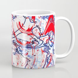 Splattering of Red Coffee Mug