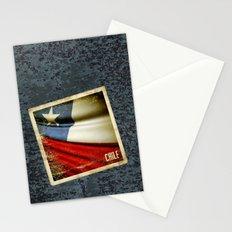 Chile grunge sticker flag Stationery Cards