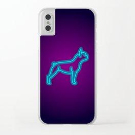 NEON FRENCH BULLDOG DOG Clear iPhone Case