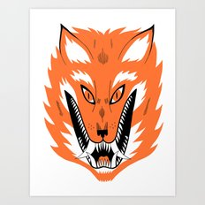 Cursed Fox Art Print