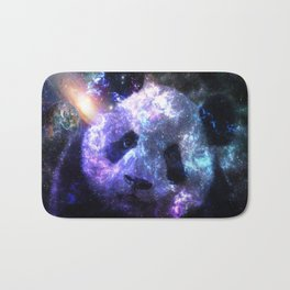 Galaxy Panda Planet Colorful Bath Mat