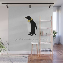 Couples Quote, Good Morning Gorgeous Wall Mural