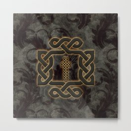 Decorative celtic knot, vintage design Metal Print