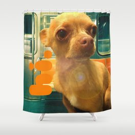 PHiNEAS subway greetings Shower Curtain