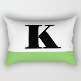 Monogram Letter K (color block) Rectangular Pillow