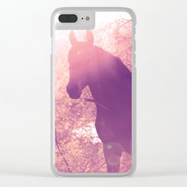 horse collection. Trakehner. sunset Clear iPhone Case