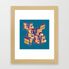 Everyday Mistakes on Teal Framed Art Print