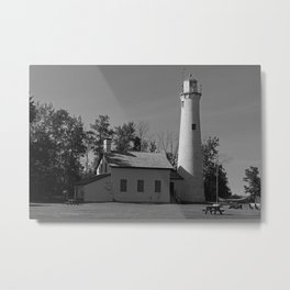 Sturgeon Lighthouse Metal Print