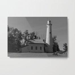 Sturgeon Lighthouse Metal Print