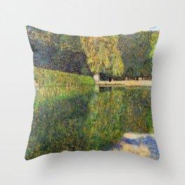 Gustav Klimt Schonbrunn Landscape Throw Pillow